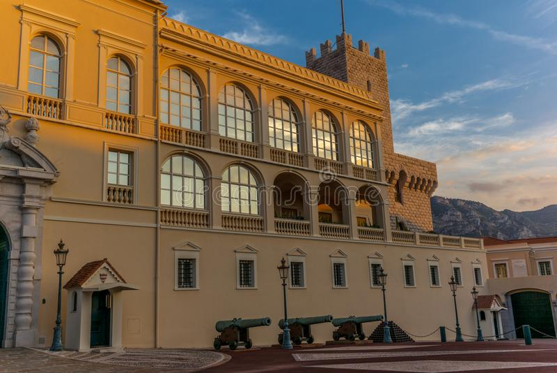 Άποψη του κάστρου του πρίγκηπα του Μονακό - 4 στοκ εικόνες