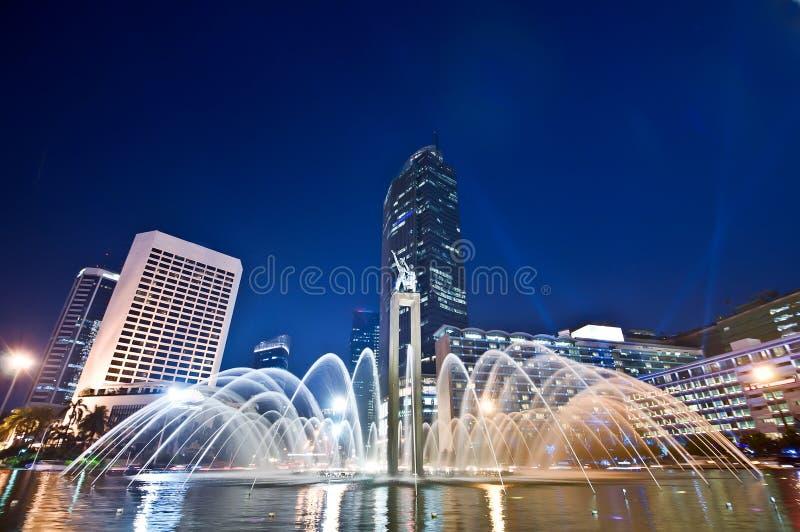 Τζακάρτα τη νύχτα στοκ εικόνες