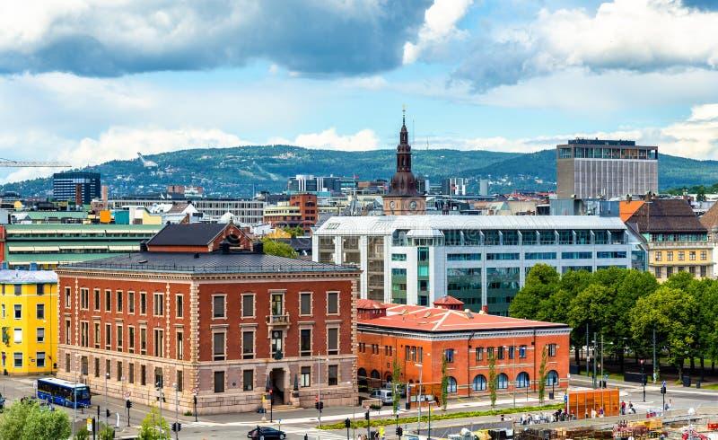 Άποψη του κέντρου της πόλης του Όσλο στοκ φωτογραφία