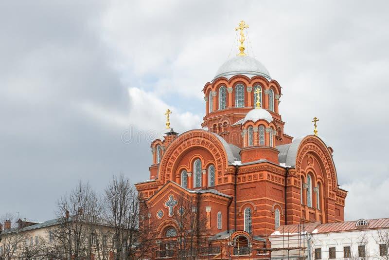 Άποψη του καθεδρικού ναού του Άγιου Βασίλη στη μονή Pokrovsky Khotkov E r στοκ εικόνα με δικαίωμα ελεύθερης χρήσης