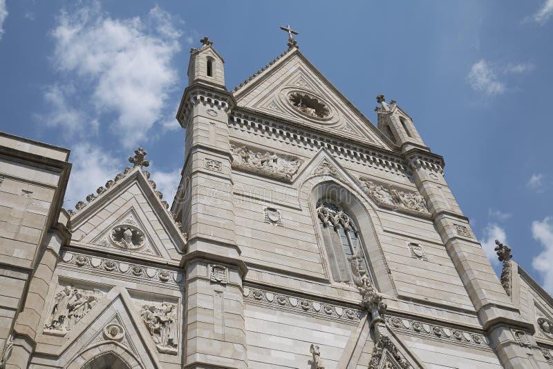 Άποψη του καθεδρικού ναού της Νάπολης στοκ φωτογραφίες