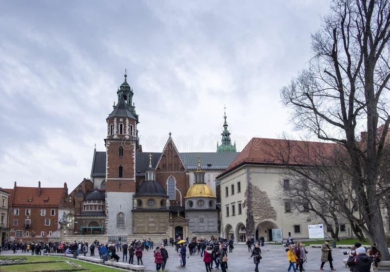 άποψη του καθεδρικού ναού Wawel, μέσα στο Wawel Castle στην Κρακοβία, Πολωνία στοκ φωτογραφία με δικαίωμα ελεύθερης χρήσης