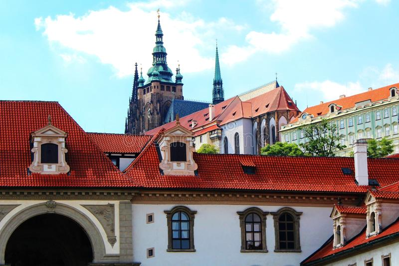 Άποψη του καθεδρικού ναού του ST Vitus στοκ φωτογραφία