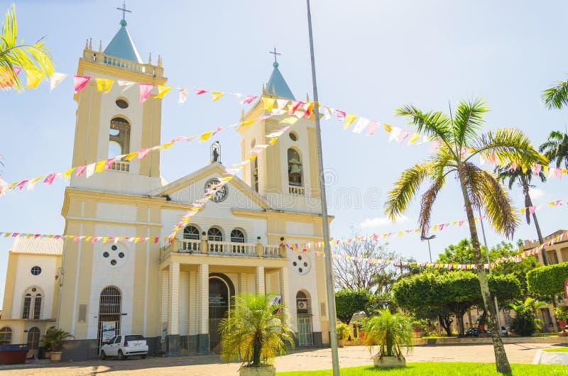 Άποψη του καθεδρικού ναού Catedral Metropolitana Sagrado Coracao de Jesu στοκ φωτογραφία με δικαίωμα ελεύθερης χρήσης