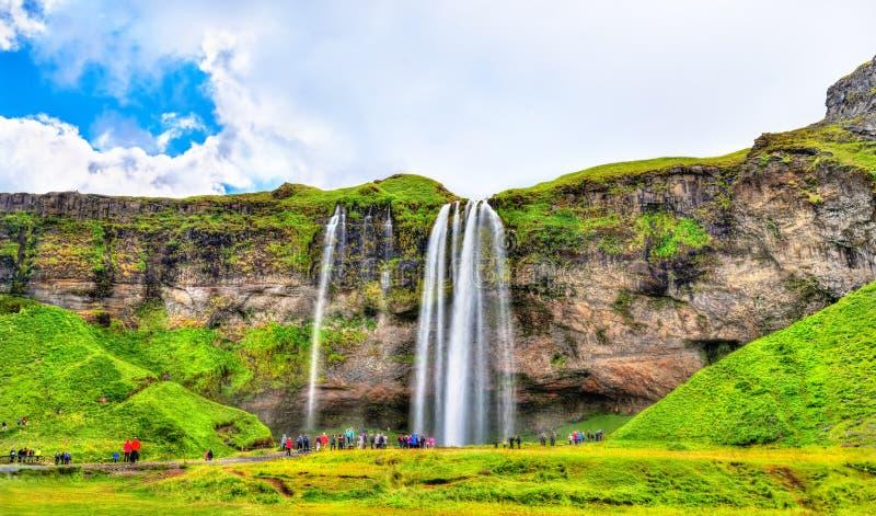 Άποψη του καταρράκτη Seljalandsfoss - Ισλανδία στοκ φωτογραφίες