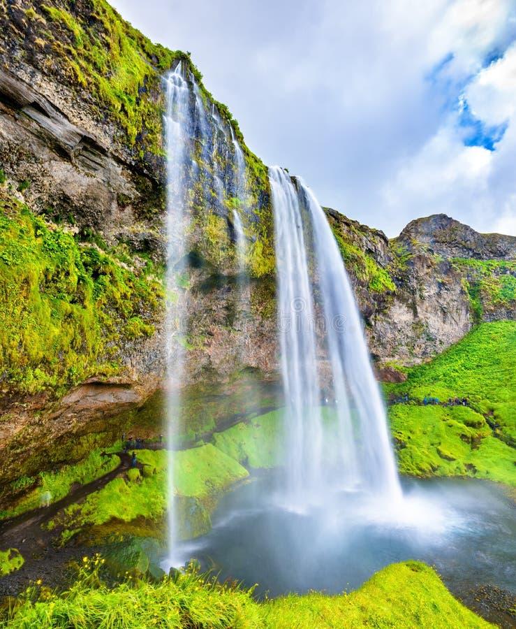 Άποψη του καταρράκτη Seljalandsfoss - Ισλανδία στοκ φωτογραφία με δικαίωμα ελεύθερης χρήσης
