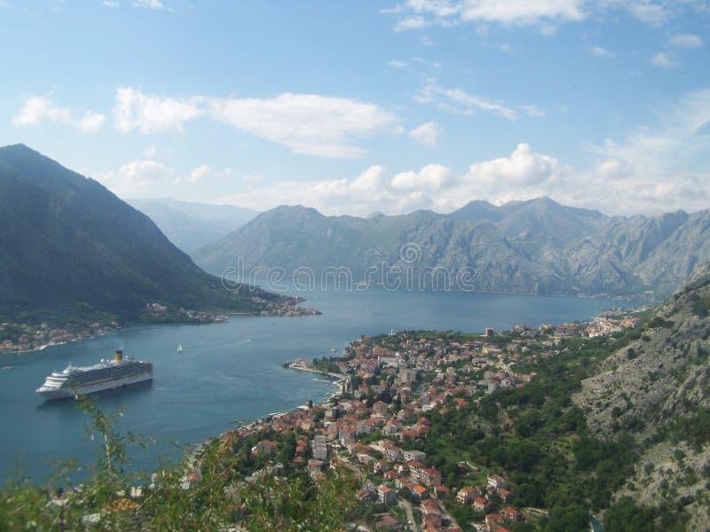 Άποψη του κόλπου Kotor στοκ εικόνα με δικαίωμα ελεύθερης χρήσης