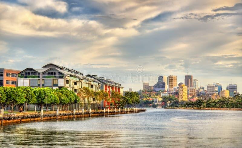 Άποψη του κόλπου Pyrmont στο Σίδνεϊ, Αυστραλία στοκ εικόνα με δικαίωμα ελεύθερης χρήσης