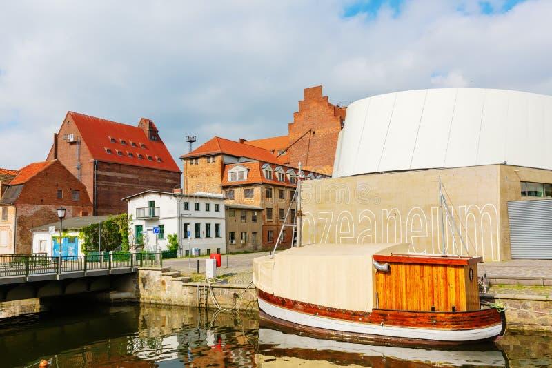 Άποψη του λιμένα Stralsund, Γερμανία στοκ εικόνες με δικαίωμα ελεύθερης χρήσης
