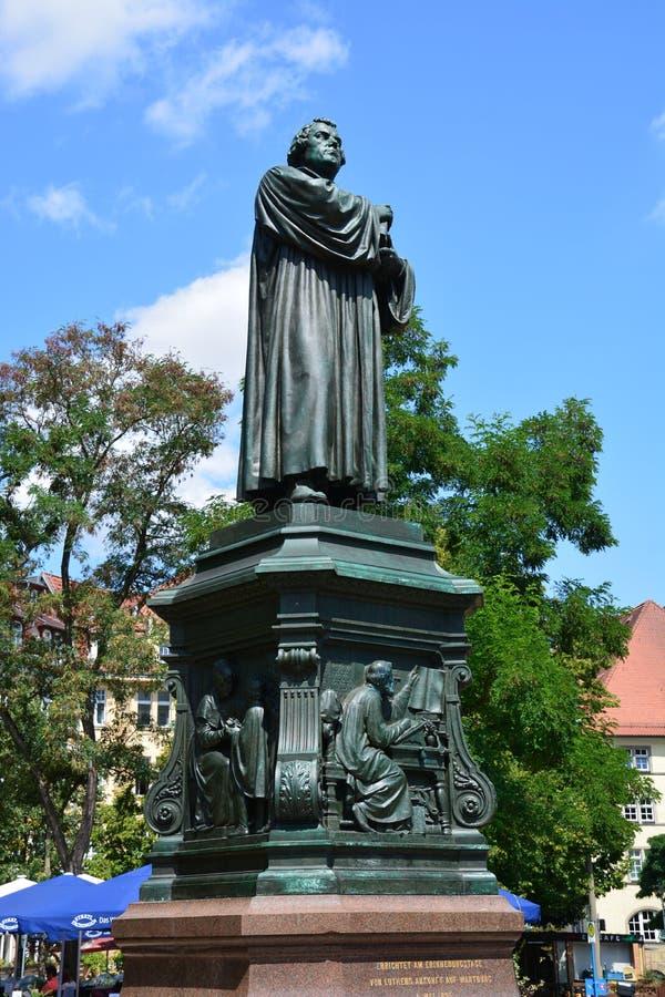 Άποψη του μνημείου στο Martin Luther στην ιστορική πόλη EISENACH, Thuringia, Γερμανία στοκ φωτογραφία με δικαίωμα ελεύθερης χρήσης