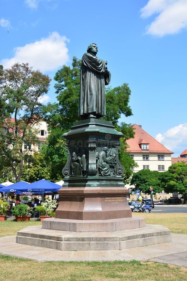 Άποψη του μνημείου στο Martin Luther στην ιστορική πόλη EISENACH, Thuringia, Γερμανία στοκ φωτογραφία