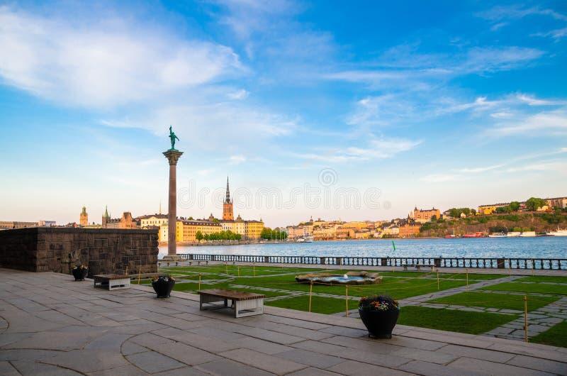 Άποψη του μνημείου Engelbrekt κοντά στη Στοκχόλμη Δημαρχείο, Σουηδία στοκ εικόνα με δικαίωμα ελεύθερης χρήσης