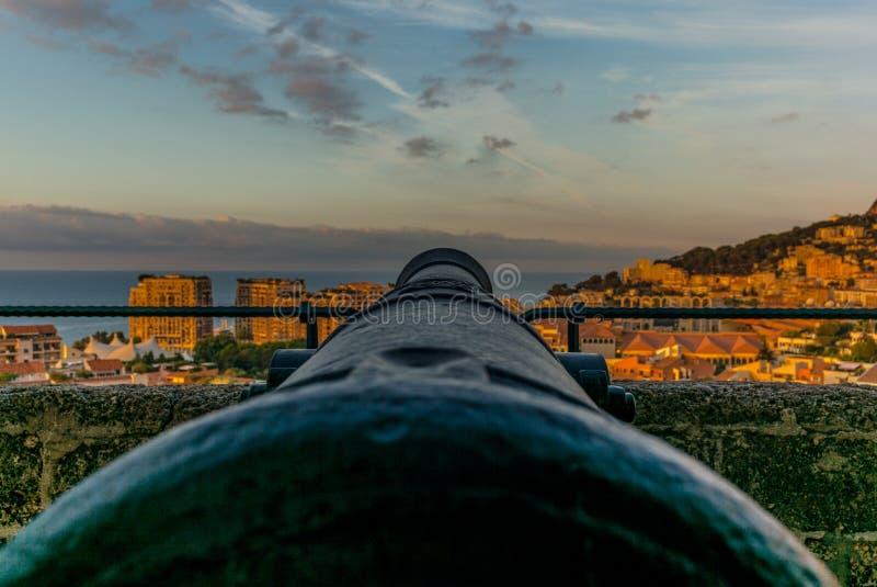 Άποψη του Μονακό από την κορυφή λόφων στοκ φωτογραφία με δικαίωμα ελεύθερης χρήσης