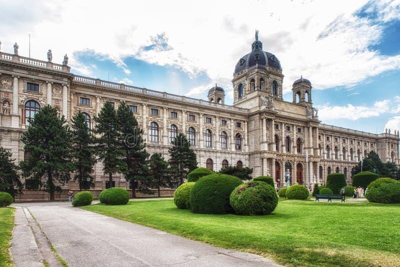 Άποψη του μουσείου της φυσικής ιστορίας, Βιέννη, Αυστρία στοκ φωτογραφίες