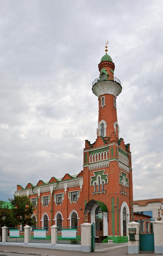 Άποψη του μουσουλμανικού τεμένους Zakabannaya προς τιμή τη χιλιετία της υιοθέτησης του Ισλάμ στην πόλη Kazan στοκ φωτογραφία με δικαίωμα ελεύθερης χρήσης