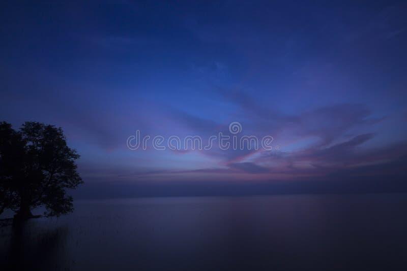 Άποψη του μπλε σουρούπου λυκόφατος - Καμπότζη, Ασία στοκ εικόνες με δικαίωμα ελεύθερης χρήσης