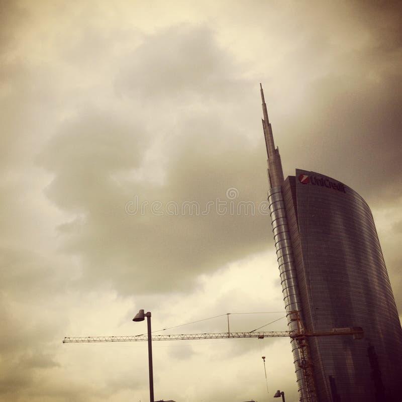 Άποψη του νέου κτηρίου UniCredit στοκ εικόνες
