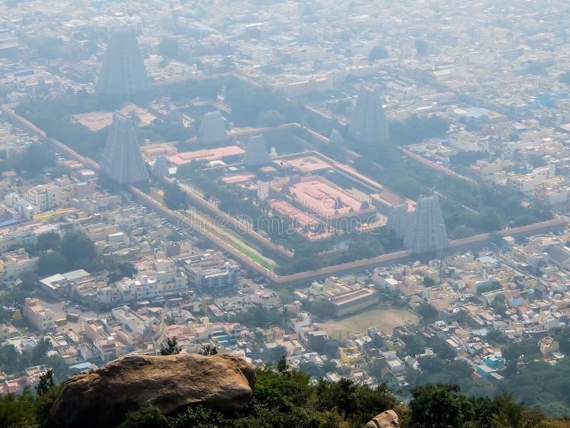 Άποψη του ναού Annamalaiyar σε Tiruvannamalai, Ινδία στοκ φωτογραφίες με δικαίωμα ελεύθερης χρήσης