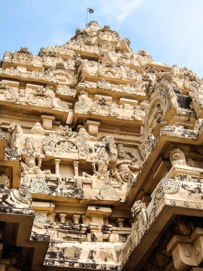 Άποψη του ναού Kailasanathar σε Kanchipuram, Ινδία στοκ εικόνες
