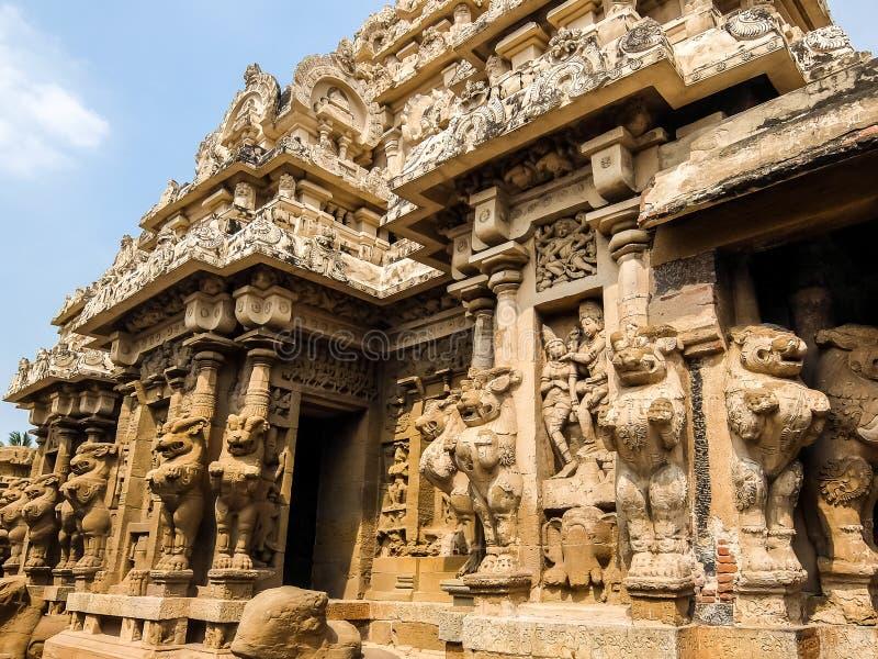 Άποψη του ναού Kailasanathar σε Kanchipuram, Ινδία στοκ εικόνες με δικαίωμα ελεύθερης χρήσης