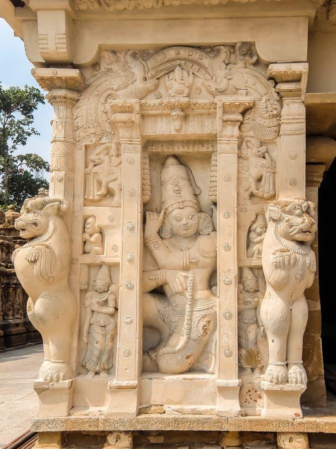 Άποψη του ναού Kailasanathar σε Kanchipuram, Ινδία στοκ εικόνα με δικαίωμα ελεύθερης χρήσης