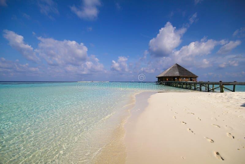 Download Άποψη του νησιού Vilamendhoo στον Ινδικό Ωκεανό Μαλδίβες Στοκ Εικόνα - εικόνα από καλοκαίρι, accompanist: 62708549