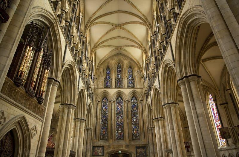 Άποψη του νότου Transcept του μοναστηριακού ναού Beverely από τη χορωδία, Beverley, ανατολική οδήγηση του Γιορκσάιρ, UK - το Μάρτ στοκ φωτογραφίες με δικαίωμα ελεύθερης χρήσης
