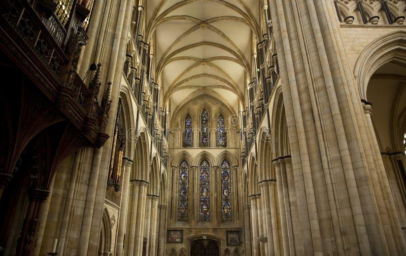 Άποψη του νότου Transcept του μοναστηριακού ναού Beverely από τη χορωδία, Beverley, ανατολική οδήγηση του Γιορκσάιρ, UK - το Μάρτ στοκ εικόνα με δικαίωμα ελεύθερης χρήσης