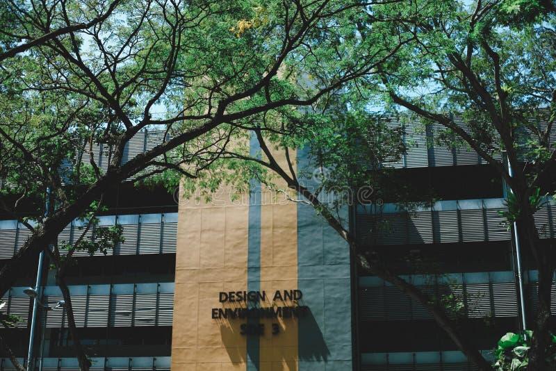 Άποψη του πανεπιστημίου της Σιγκαπούρης στοκ φωτογραφία με δικαίωμα ελεύθερης χρήσης