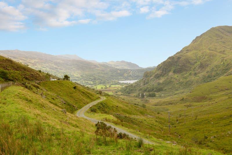 Άποψη του περάσματος LLanberis στο εθνικό πάρκο Snowdonia στοκ φωτογραφία