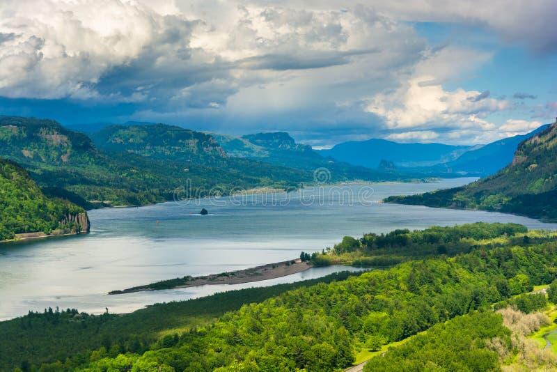 Άποψη του ποταμού της Κολούμπια από το Vista σπίτι στοκ εικόνες