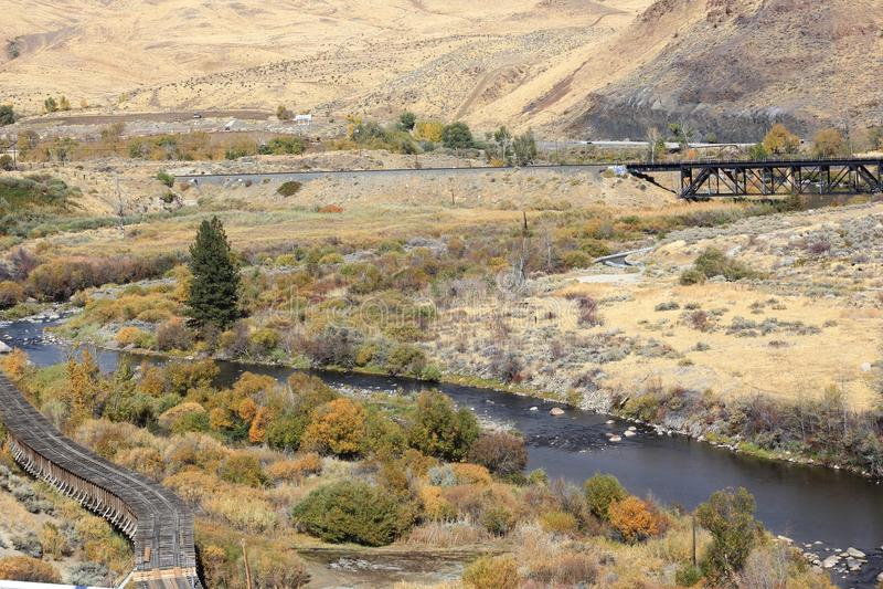 Άποψη του ποταμού Truckee στοκ φωτογραφία με δικαίωμα ελεύθερης χρήσης