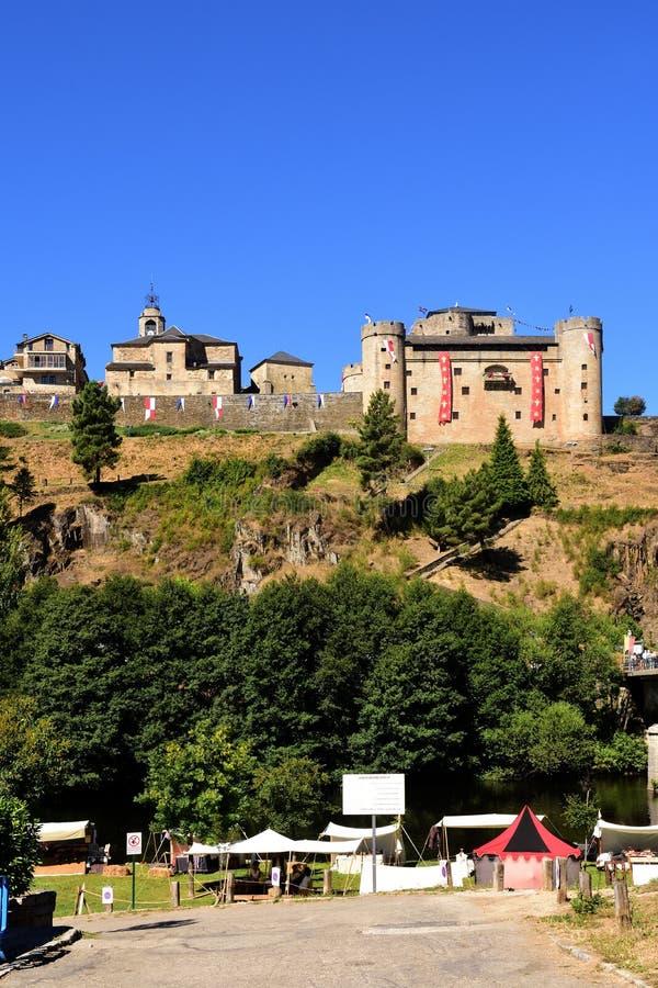 Άποψη του Πουέμπλα de Sanabria, Zamora επαρχία, Καστίλλη-Leon, Spai στοκ εικόνες