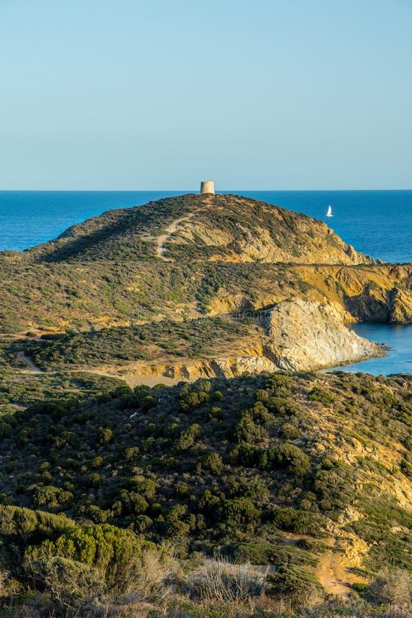 Άποψη του πύργου Malfatano στοκ φωτογραφία με δικαίωμα ελεύθερης χρήσης