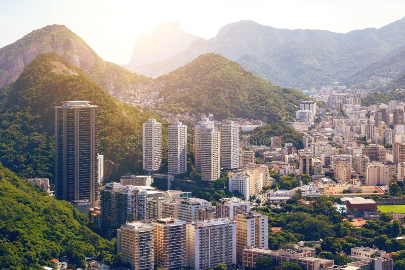 Άποψη του Ρίο ντε Τζανέιρο στοκ φωτογραφίες με δικαίωμα ελεύθερης χρήσης