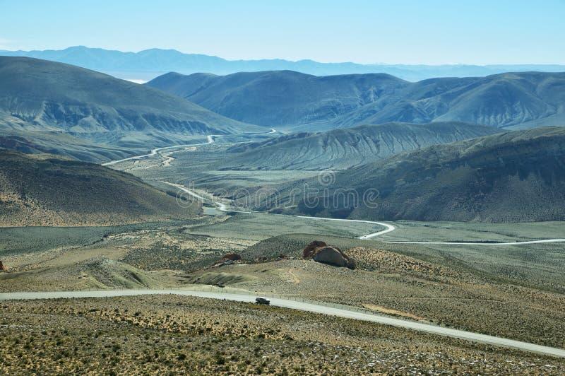 Άποψη του δρόμου με πολλ'ες στροφές γνωστή ως Cuesta de Lipan στοκ φωτογραφία με δικαίωμα ελεύθερης χρήσης