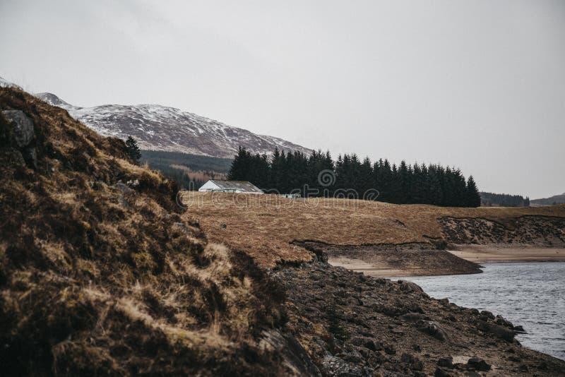 Άποψη του σκωτσέζικων Χάιλαντς και του ποταμού Spean κοντά στο οχυρό William, Σκωτία στοκ εικόνες με δικαίωμα ελεύθερης χρήσης