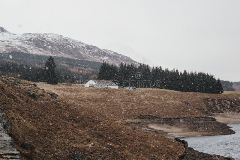 Άποψη του σκωτσέζικων Χάιλαντς και του ποταμού Spean κοντά στο οχυρό William, Σκωτία στοκ φωτογραφίες με δικαίωμα ελεύθερης χρήσης