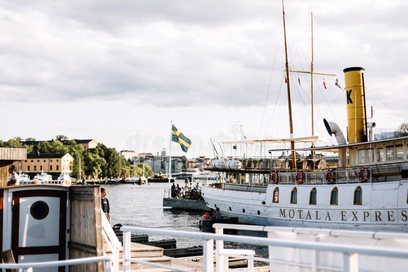 Άποψη του σουηδικού αρχιπελάγους στη Στοκχόλμη, Σουηδία στοκ φωτογραφίες με δικαίωμα ελεύθερης χρήσης
