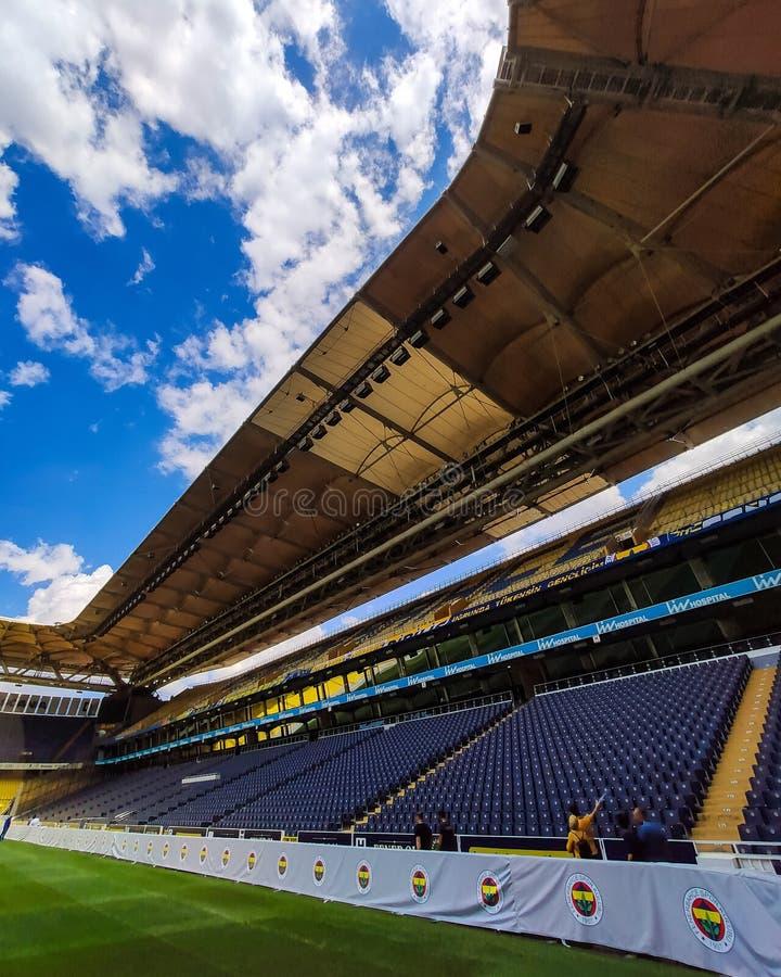 Άποψη του σταδίου Fenerbahce Sukru Saracoglu στην Κωνσταντινούπολη της Τουρκίας στοκ φωτογραφία