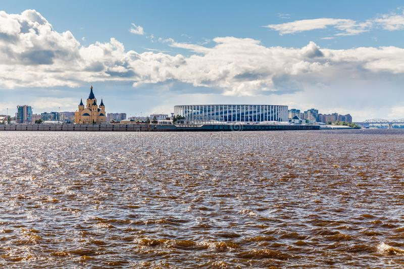 Άποψη του σταδίου Nizhny Novgorod στοκ φωτογραφίες με δικαίωμα ελεύθερης χρήσης