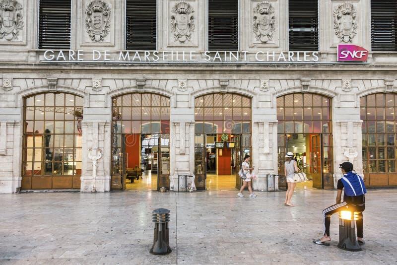 Άποψη του σταθμού τρένου Αγίου Charles στη Μασσαλία στοκ εικόνα με δικαίωμα ελεύθερης χρήσης