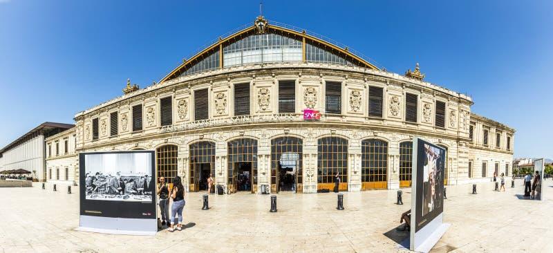 Άποψη του σταθμού τρένου Αγίου Charles στοκ φωτογραφίες με δικαίωμα ελεύθερης χρήσης