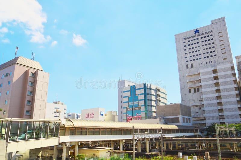 Άποψη του σταθμού Kawasaki σε Kawasaki, Ιαπωνία στοκ εικόνα με δικαίωμα ελεύθερης χρήσης