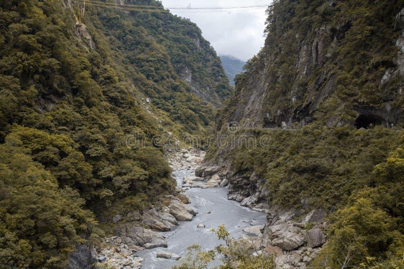 Άποψη του ταρόκο στο τοπίο του Εθνικού Πάρκου το φθινόπωρο στο Hualien της Ταϊβάν στοκ φωτογραφία με δικαίωμα ελεύθερης χρήσης