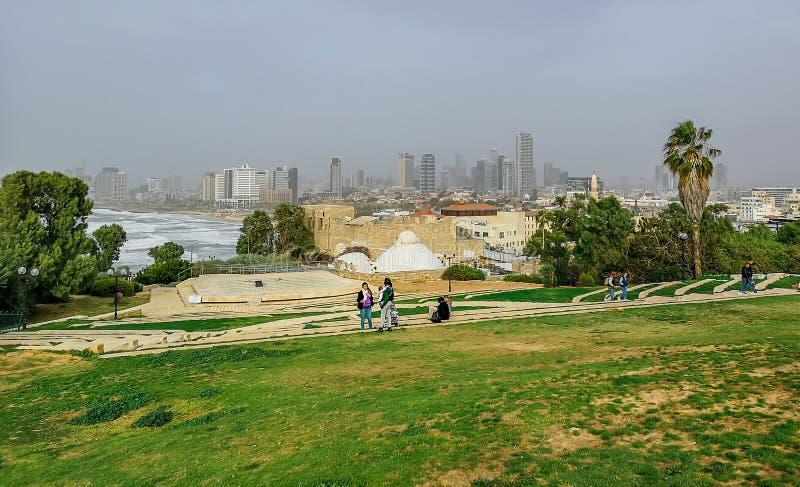 Άποψη του Τελ Αβίβ από παλαιό Jaffa στοκ φωτογραφία με δικαίωμα ελεύθερης χρήσης