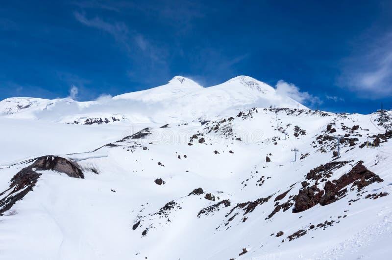 Άποψη του υποστηρίγματος Elbrus στοκ φωτογραφία με δικαίωμα ελεύθερης χρήσης