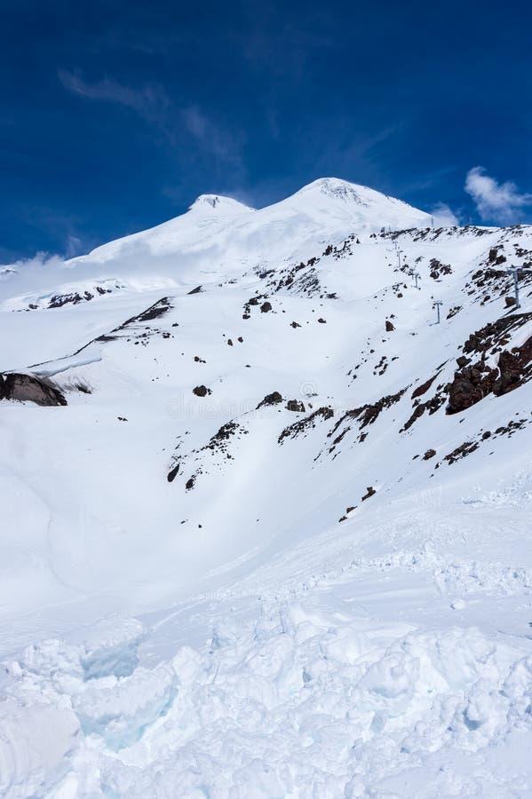 Άποψη του υποστηρίγματος Elbrus στοκ φωτογραφία