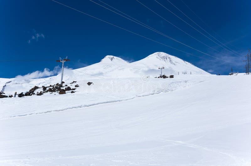 Άποψη του υποστηρίγματος Elbrus στοκ φωτογραφίες