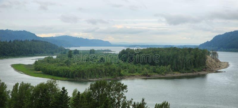 Άποψη του φαραγγιού ποταμών της Κολούμπια στοκ εικόνες